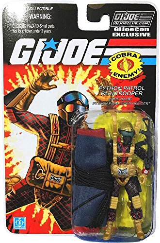 (JoeCon 2018 GI Joe Convention Exclusive Python Patrol Officer Para-Viper Paratrooper Packaged 3 3/4 Inch Action Figure)