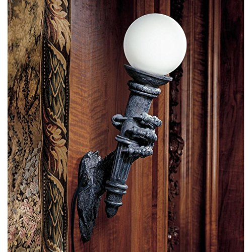 - Design Toscano Blackfriar's Gate Wall Torchiere Lamp