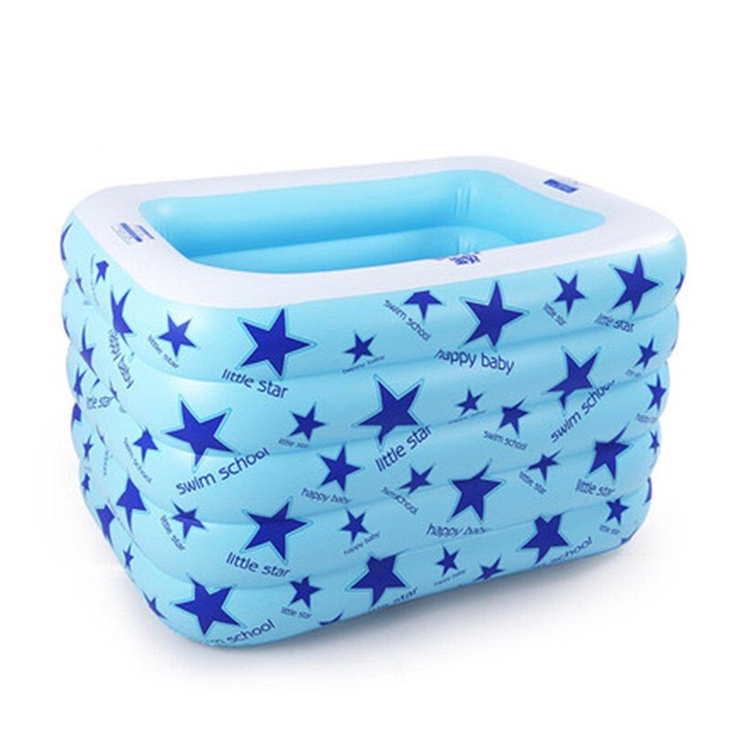 JP bathtub JPYG Aufblasbare Badewanne, Verdickung Insulation aufgeblasenes Kind Baby Schwimmbad Baby Play Pool tragbar (Farbe : Blau)
