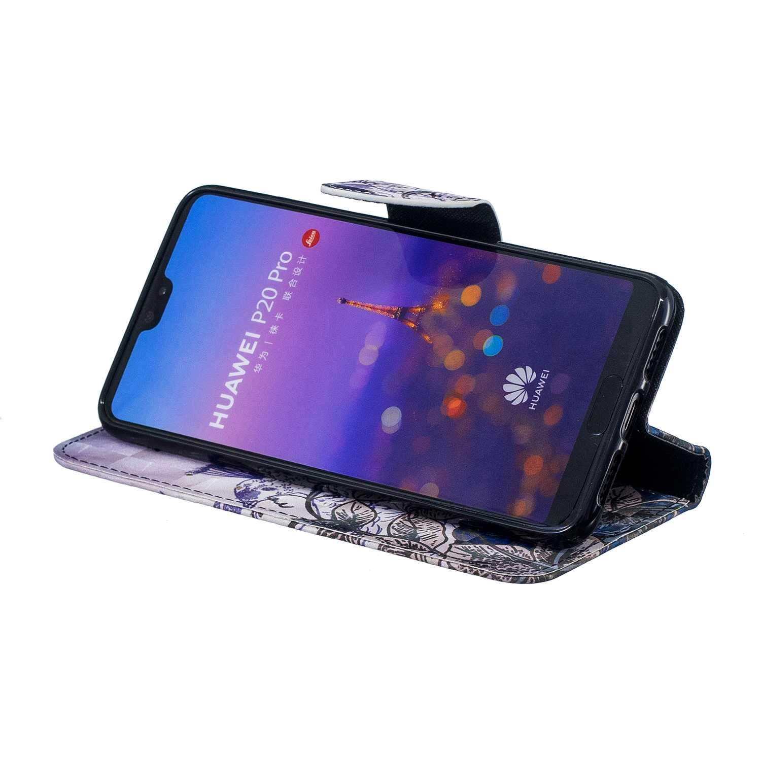 CUSKING Huawei P20 Pro Case, Premium 3D Design Wallet Case Stand Flip Case with Card Holders and Magnetic Closure, Multi-Functional Shockproof Case for Huawei P20 Pro - Peacock by CUSKING (Image #5)