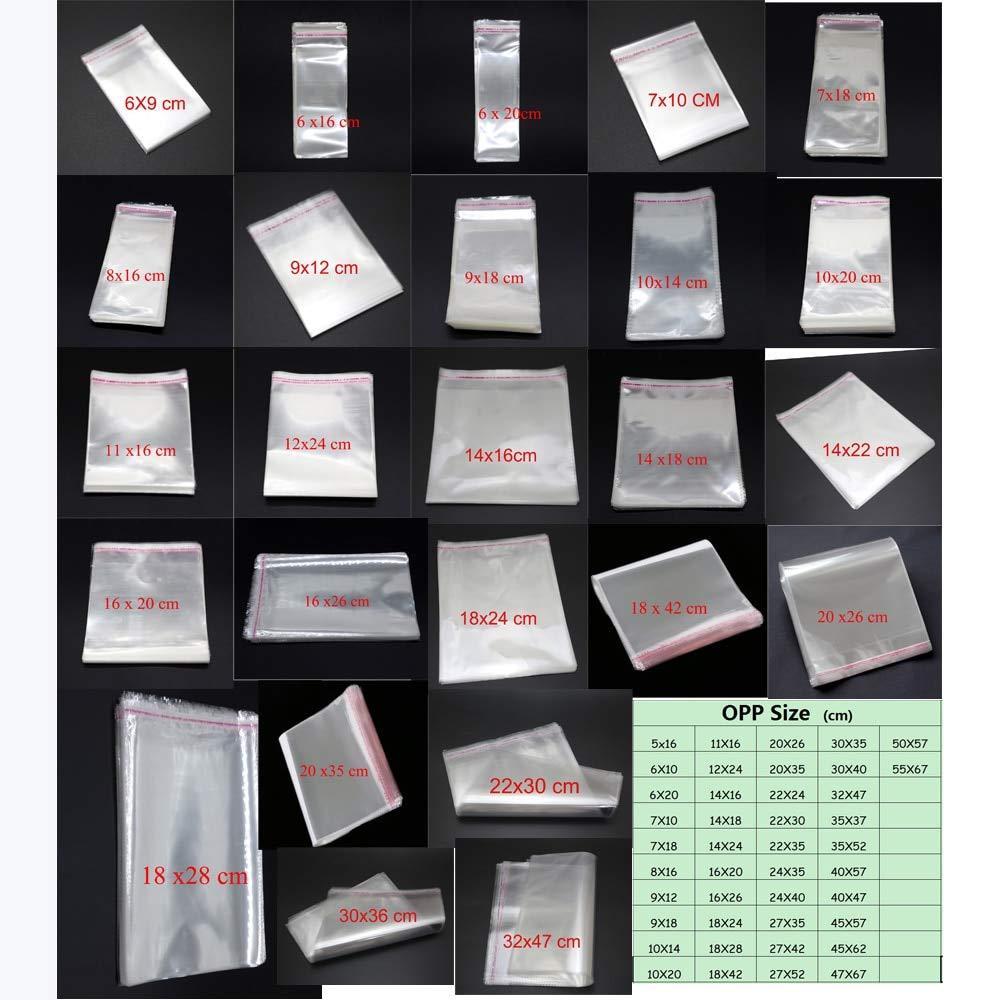 garantía de crédito Uniqus Lot Lot Lot - Bolsas de celofán para celofán (plástico y Polipropileno), Color Transparente  más vendido