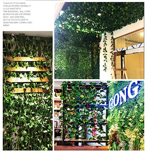 84 Ft 12 Pack Hanging Vines Garland Fake Ivy Leaves Plants Fake Foliage Flowers Fake Greenery Decor for Home Kitchen Garden Office Wedding Wall Party Decoration MerryNine Artificial Ivy Leaf