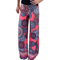 Morbuy Women's Vintage Flared Pants, Yoga Harem Bootcut Trousers Comfortable Beach