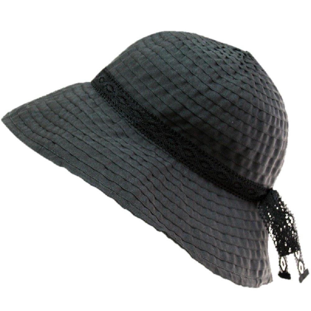 [Les belles modes(ベルモード)]トーションリボン飾りのグログランクローシュ 06-41 (ブラウン/ブラック) B07DLVDSPV ブラック ブラック