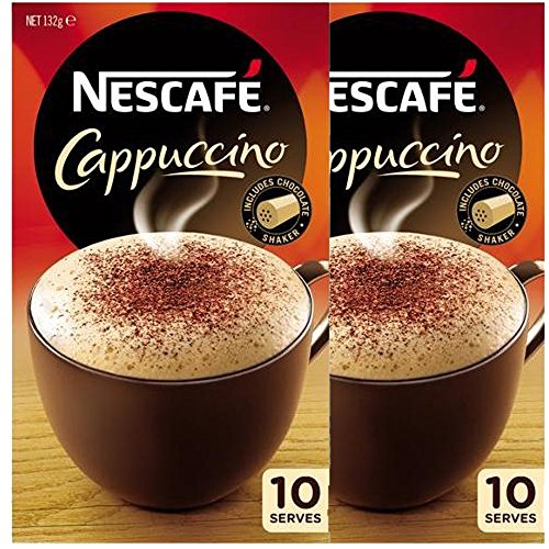 nescafe-cappuccino-sachets-10-serves-pack-2-x-10-packets-132gm-x-2-with-chocolate-shaker