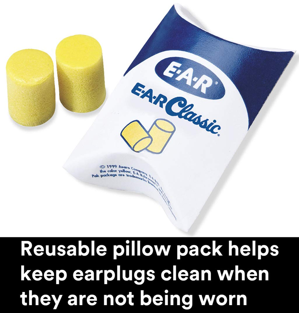 Pack of 200 in Pillow Pack 3M Classic Small Uncorded Earplugs 310-1103