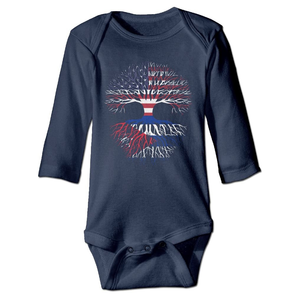 Mri-le1 Baby Girls Bodysuits American Grown Cuba Roots Infant Long Sleeve Romper Jumpsuit