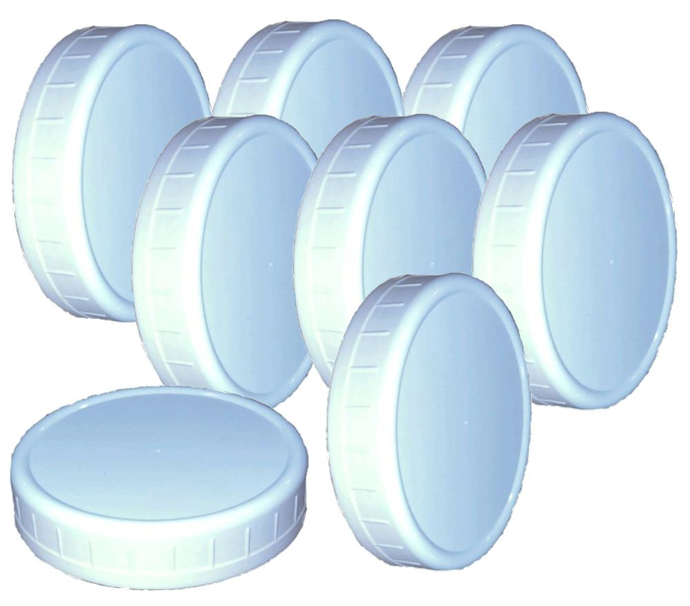 "Wide-Mouth Reusable Plastic Lids for Canning Jars, 8 Count, Mainstays (3.62"" dia x .75"" H)"