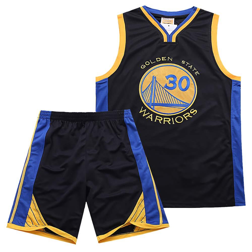 Hommes Guerriers Curry 30/ème Maillot R/éel De Broderie Costume Jersey D/ét/é Costume Jersey pour Gar/çon