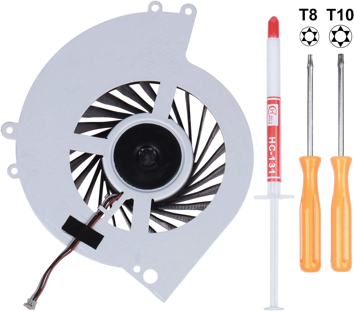 Li-SUN CPU Cooling Fan KSB0912HE-CK2M, Internal Cooler Replacement for Sony Playstation 4 PS4 CUH-10XXA (CUH-1000A CUH-1001A), and CUH-11XXA (CUH-1100A CUH-1115A) Console Series with Tool Kit