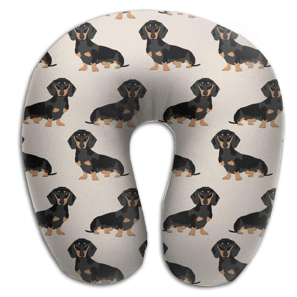 CRSJBB219 Wiener Dog Pet Animal Comfortable Travel Pillow,Neck Pillow,a Memory Foam Pillow That Provides Relief and Support for Travel,Home, Neck Pain