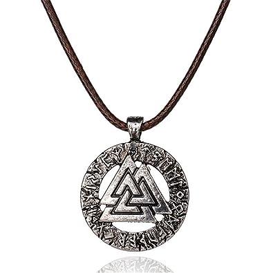 Amazon Viking Valknut Pendant Norse Warrior Odin Symbol Amulet