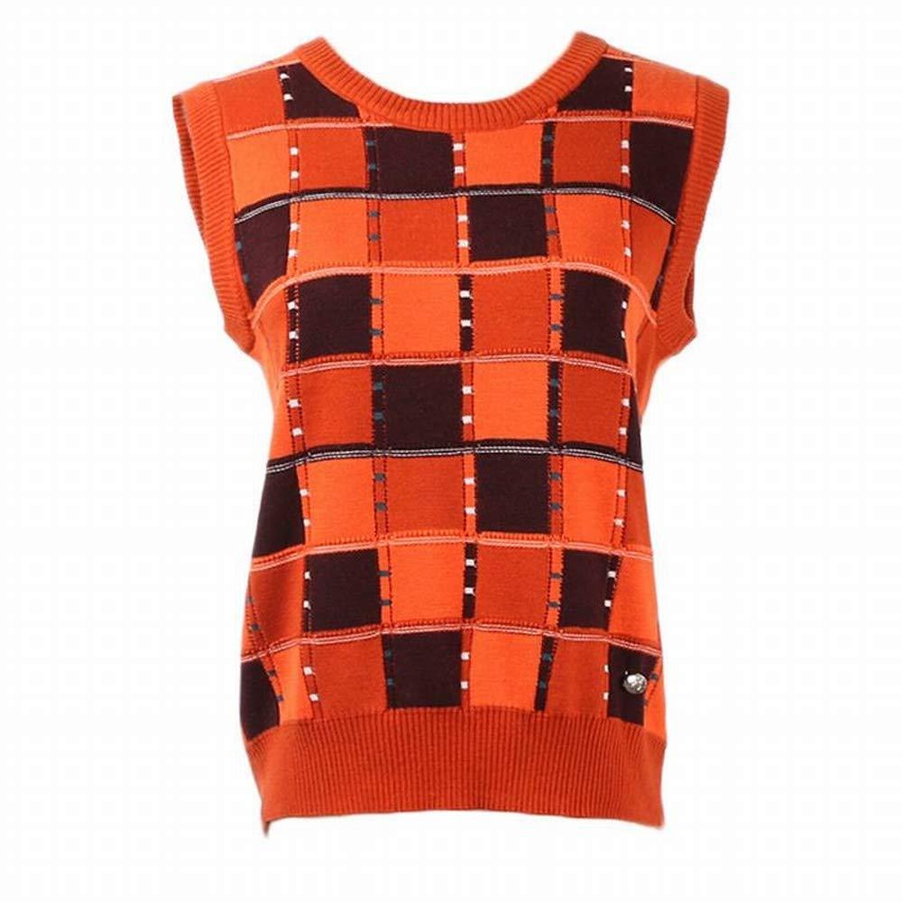 Thumby Quadratische Gitterfarbe Rundhals Weste Bottoming Bottoming Bottoming Shirt Beiläufige Strickhemd Frauen B07GVFSKGQ Bekleidung Modebewegung fa886a