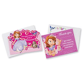 Amazon Com Sofia The First Invitations Thank You Cards Birthday