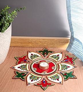 Itiha White Red Green 13 Pieces Rangoli Indian Decor for Wall Decoration Floor decoration \u0026 & Amazon.com: Handylo Antique Decorative Handmade Aladdin Chirag Genie ...