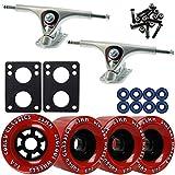 TGM Skateboards Paris 180 Raw Longboard Trucks Wheels Package Bigfoot 83mm Cored Classics Red