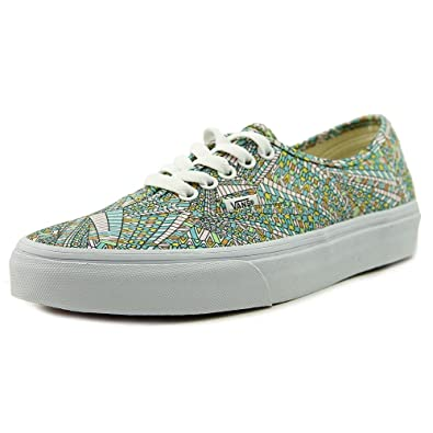 b8afec5b14 Vans Unisex Authentic Abstract Skate Shoe-Abstract White-7-Women 5.5