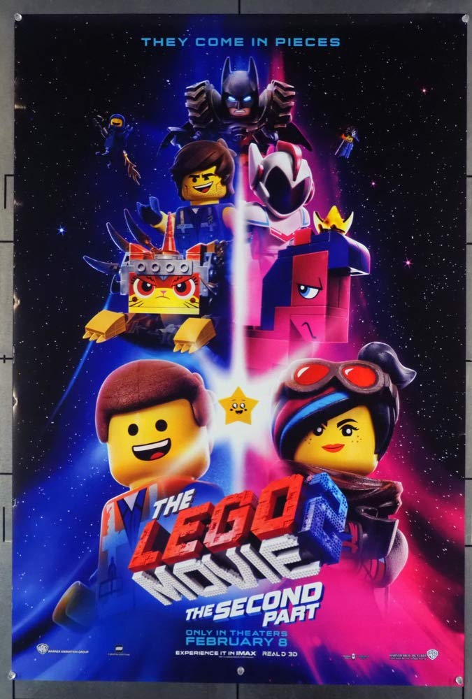 Lego Movie 2, The:The Second Part (2019) Original One Sheet Poster (27x41) Rolled Fine Condition