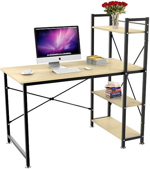 Huiseneu Mesa de Escritorio Moderna para Oficina o hogar con 4 ...