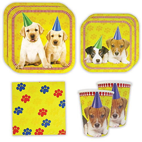 Puppy Standard Party Packs (65+ Pieces for 16 Guests!), Puppy Party Supplies, Dog Themed Birthdays, Puppy Decorations Puppy Birthday Party Supplies