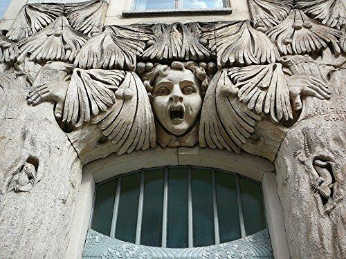 Home Comforts LAMINATED POSTER Door Frieze Building Architecture Art Nouveau Poster
