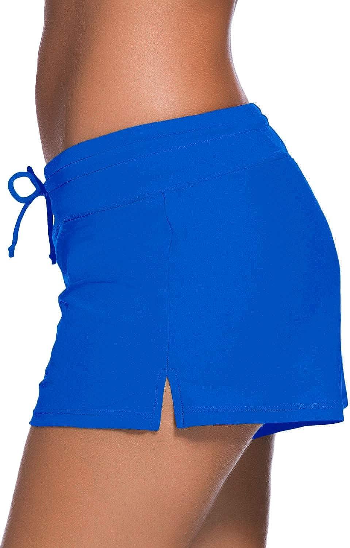 SIDEFFEL Damen Badeshorts Kurze Badehose Bikinihose UV Schutz Shorts Boardshorts Schnell Trocknendes Schwimmhose Schwimmshorts S-XXXL