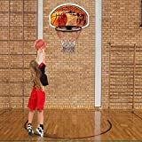 Custpromo 29' x 20' Wall Mounted Fan Backboard with Hanging Basketball Hoop and Rim Indoor Outdoor Sports, Both For Adults And Kids
