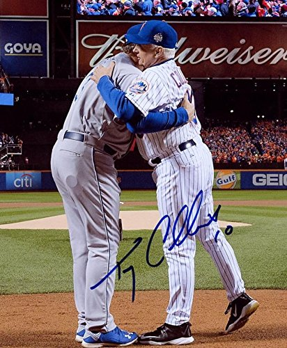 TERRY COLLINS NEW YORK METS WORLD SERIES SIGNED AUTOGRAPHED 8X10 PHOTO W/COA