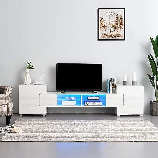 Soddyenergy Mueble para televisor de 230 cm, diseño Moderno, Color ...