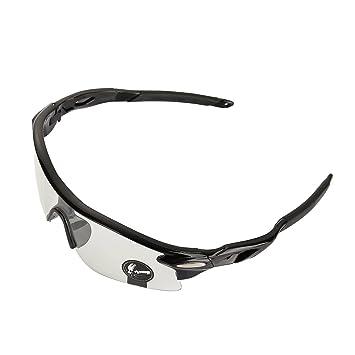 VABNEER Gafas Ciclismo Gafas de Sol Deportivas Gafas de Sol para Hombre y Mujer Gafas de Montar al Aire Libre (Lente Transparente)