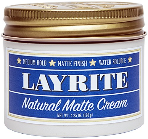 Layrite Natural Matte Cream, 4.25 oz. (Best Pomade For Natural Hair)