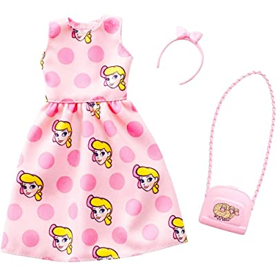 Barbie Toy Story 4 Doll Clothes Dress, Purse & Hair Piece: Toys & Games