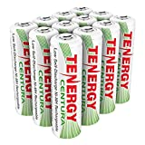 Combo: 12pcs of Tenergy Centura NiMH AA 2000mAh Low Self Discharge Rechargeable Batteries
