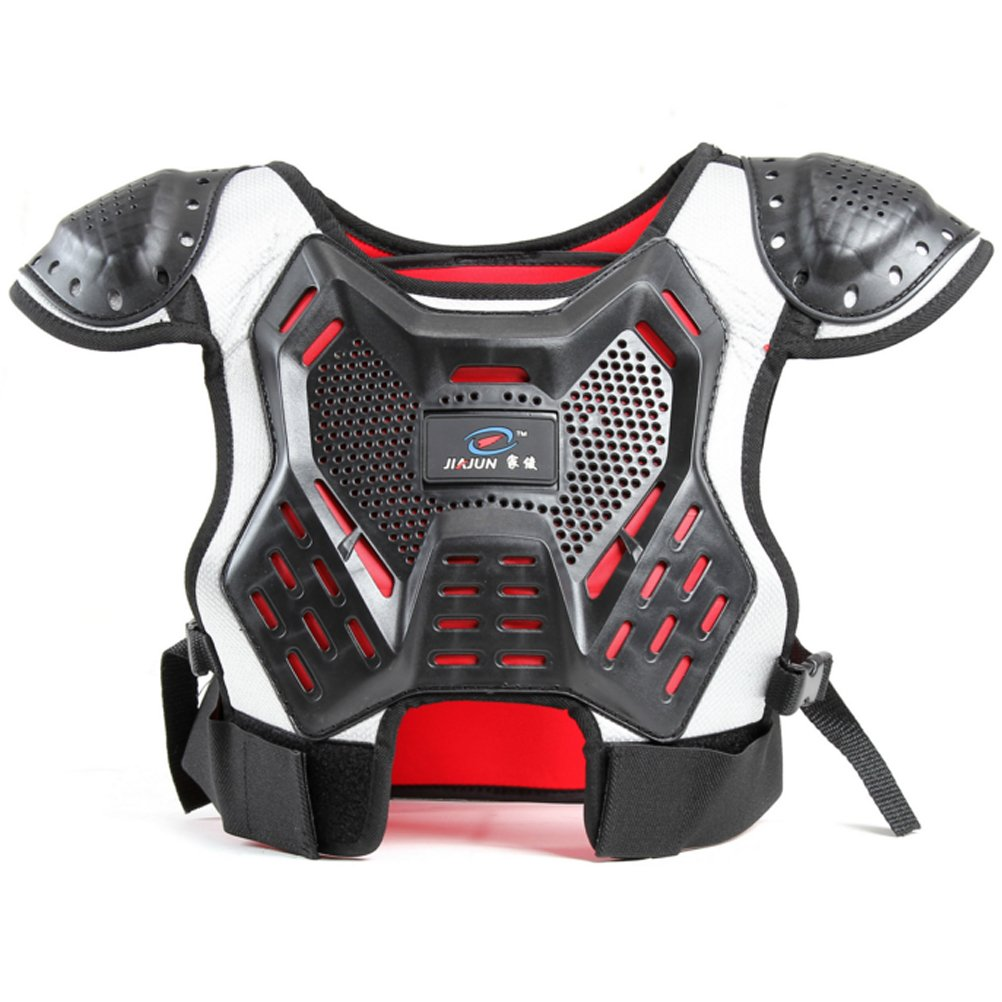 Takuey Children's Professional Armor Vest Motocross Armor Protective Kids Skate Board Skiing Back Support Motorcycle Protective Gear Jackets Guard Shirt Back Support (S)
