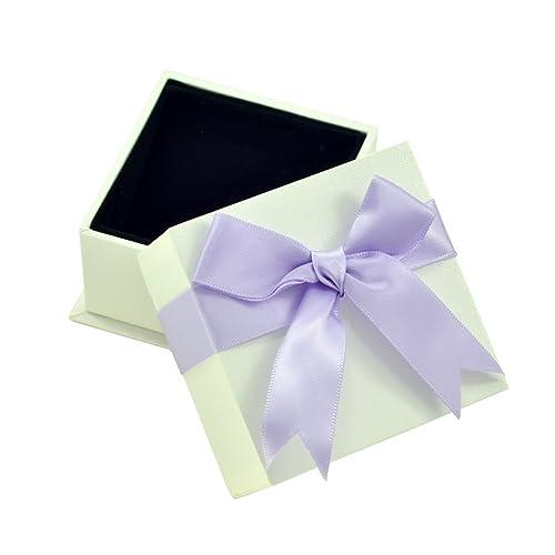 Paialco joyería violeta lazos con lazo de cajas de regalo para anillos, color blanco: Amazon.es: Joyería
