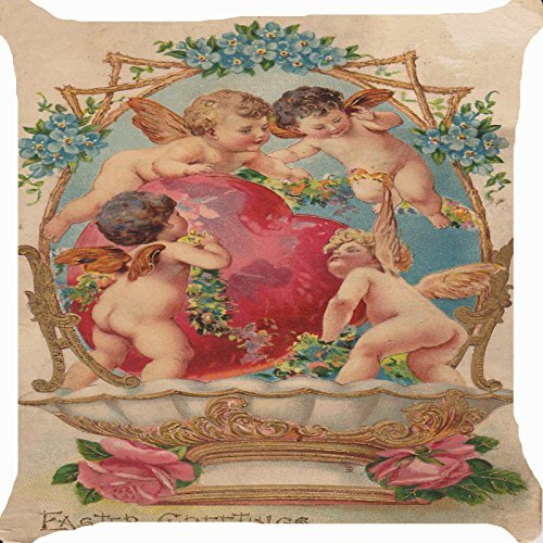 cushion throw case baby angels