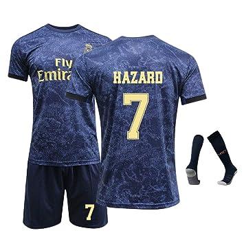 DUBAOBAO Camiseta de fútbol para niños/Adultos/Juveniles, No. 7, No.10, No.10, Calcetines, 100% poliéster, cómodo, Ligero, Transpirable