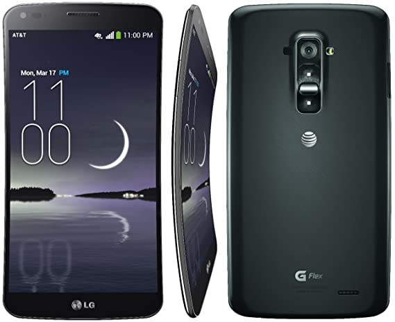 amazon com lg g flex d950 titan siver 32gb 6 curved oled display