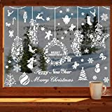 253 PCS Christmas Snowflake Window Clings Decal Stickers Xmas Winter Wonderland Decorations Ornaments Holiday Party Supplies
