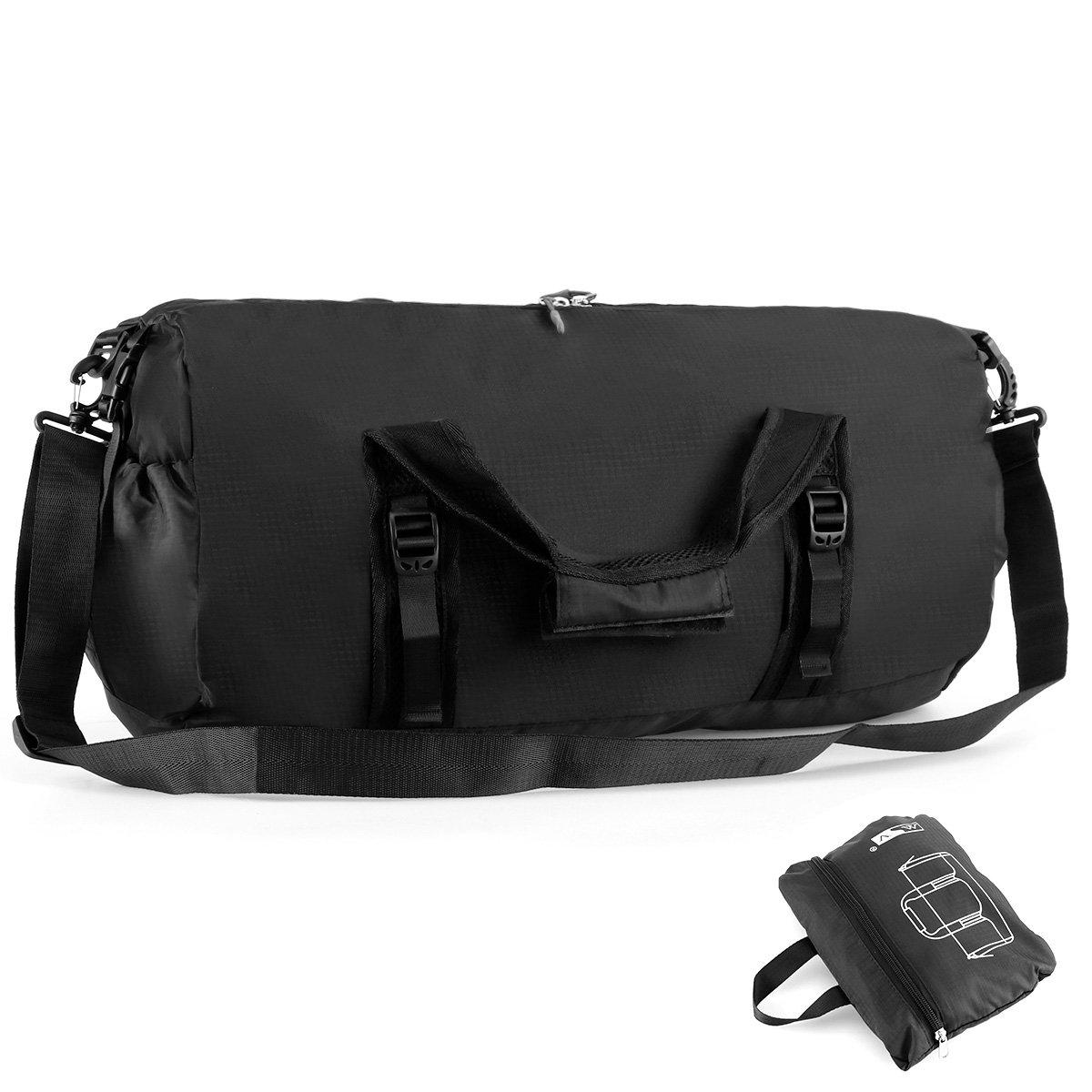 Duffel Bag Travelling Bag Large Capacity Luggage Bag Foldable Zipper Handbag Single-shoulder Bag Crossbody Bag for Men and Women (Small)