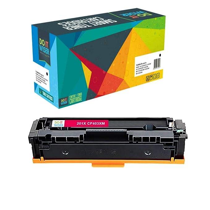 Do it Wiser ® 5 Cartuchos de Tóner Compatibles HP 201 X 201A para HP Color LaserJet Pro MFP M277dw M277n M252dw M252n M274n - CF400X CF401X CF402X CF403X ...