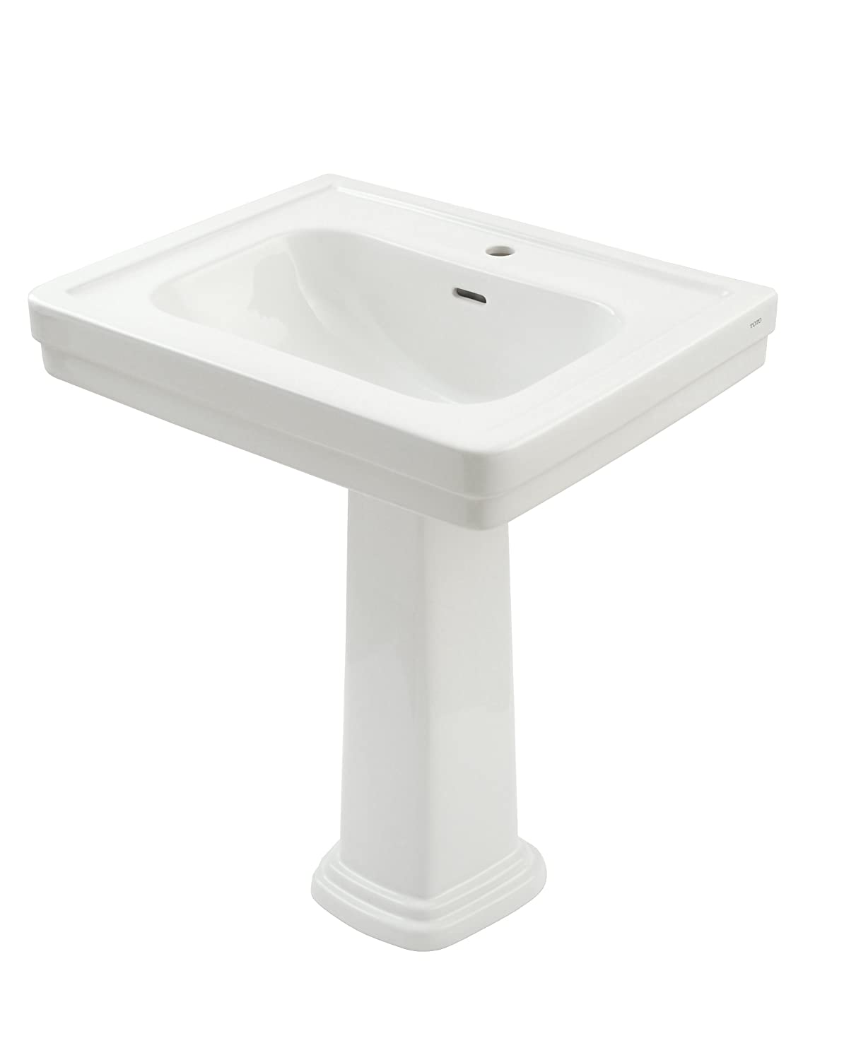 TOTO LPT530.8N#01 Promenade Lavatory And Pedestal With 8 Inch Centers,  Cotton White   Pedestal Sinks   Amazon.com