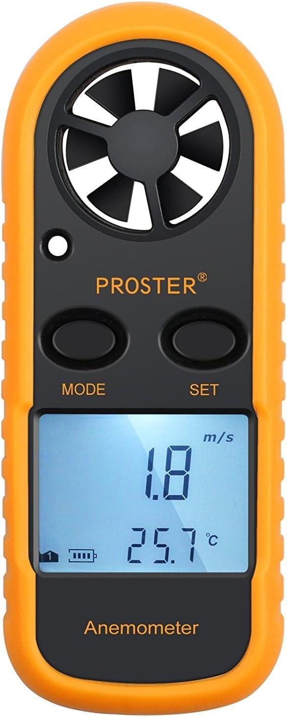 anémomètre digital LCD : vitesse du vente et flux d'air