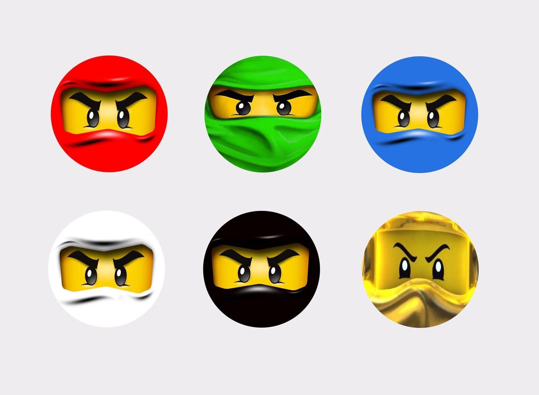30/Ninjago Ninjas Cupcakes G/âteaux Gla/çage Sucre 4/cm Diam/ètre D/écoupe