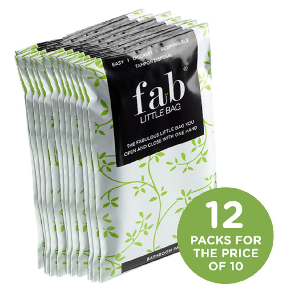 FabLittleBag Saver 10 Pack: 10 Packs (200 Total Bags) of Disposable, Biodegradable, Feminine Hygiene Product Disposal Bags by FabLittleBag