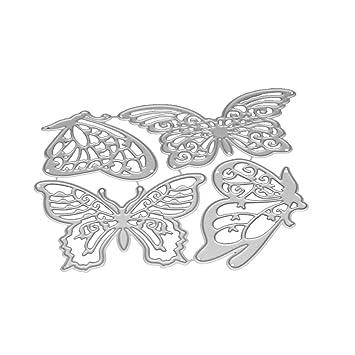 DIY Metal corte muere, Panda, mariposa, fonógrafo 3d plantilla para de corte muere molde para DIY álbum de recortes Tarjeta de papel: Amazon.es: Juguetes y ...