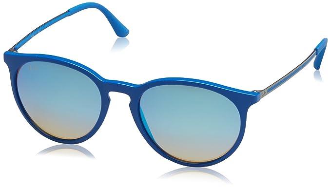 Ray-Ban RAYBAN Herren Sonnenbrille Erika, Blau (Shiny Bluette/Mirrorgradientgrey), 53