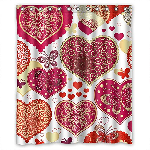 Monadicase Polyester Love Bathroom Curta - 72 Center Mount Fountain Shopping Results