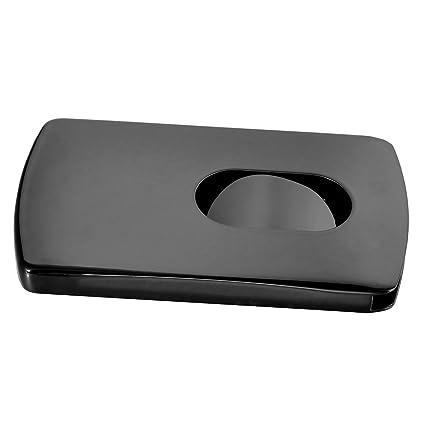 Hooami Edelstahl Glaenzend Visitenkarte Box Spender Etui Druckkassette Karte Fall 102mmx60mm Schwarz