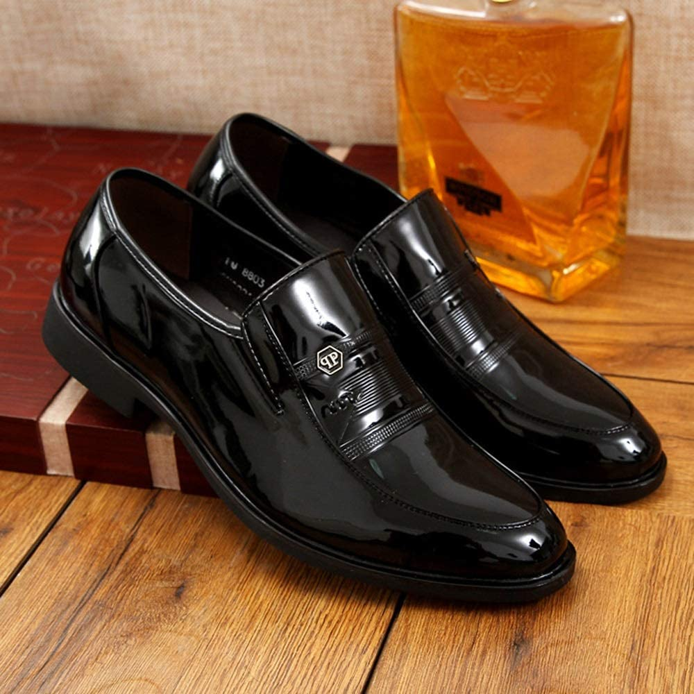 Slip on Cap Toe Classic Slip Comfortable Shoes for Work Business Indoor CATEDOT Mens Oxford Loafer Leather Shoes Color : Black, Size : 7.5 M US